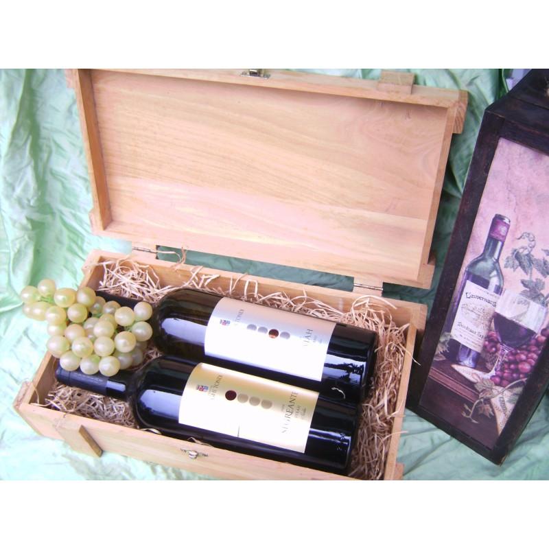 Holzkiste für Weinflaschen