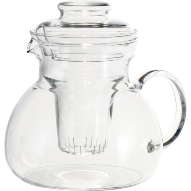 Glas Teekanne mit Teesieb 1,5l