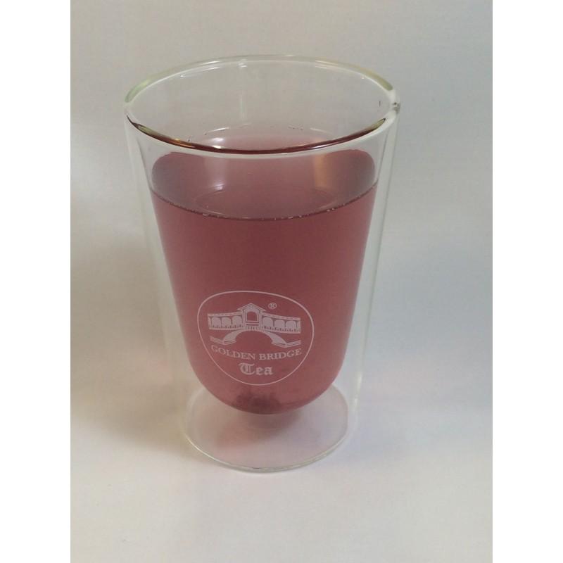 Teeglas doppelwandig mit Untertasse