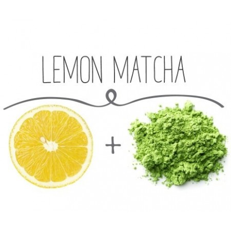 Matcha Tee mit Zitrone