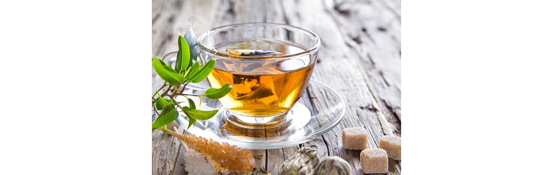Schwarz-, Grün-, Früchte-,  Kräutertees, Matcha Tee und Pu Erh Tee
