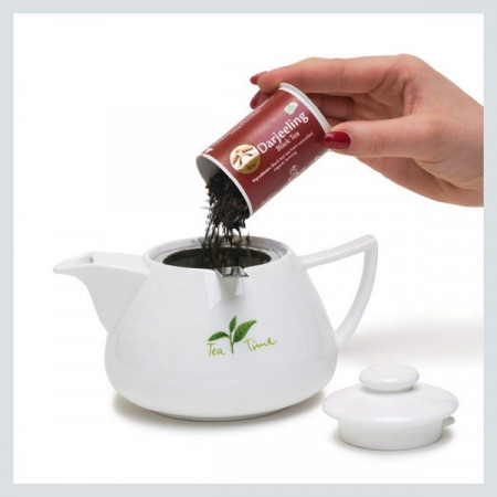 T.P.S.  Teapot serving - Loser Tee perfekt serviert - Golden Bridge Tea®